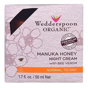 Wedderspoon, Ночной крем, Манука, Мед, Пчелиный Яд