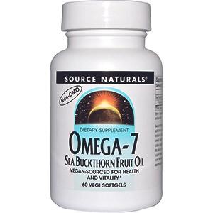Source Naturals, Омега-7, масло ягод облепихи
