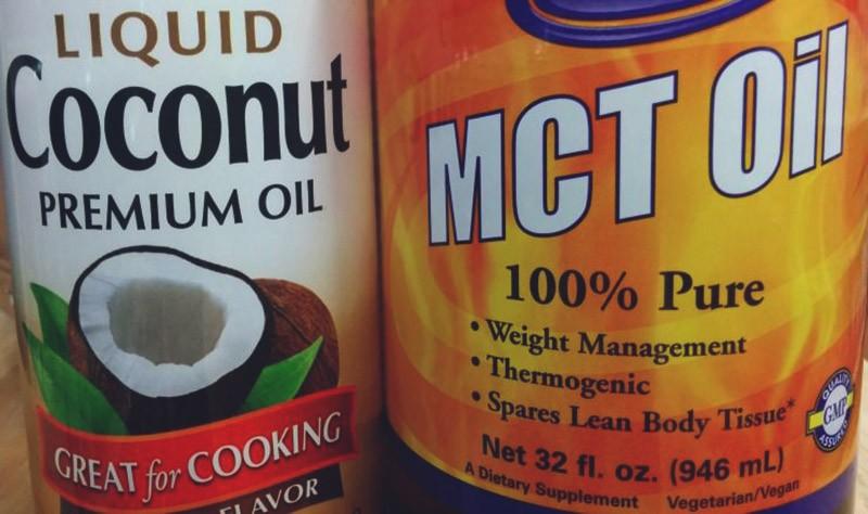kokosový olej a MCT