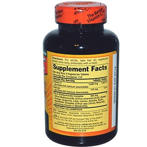 American Health, Эстер-C, 500 мг с цитрусовыми биофлавоноидами