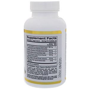 California Gold Nutrition, Силимарин-комплекс, здоровье печени, экстракт куркумы и расторопши