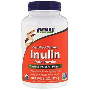 Now Foods, Сертифицированный органический инулин