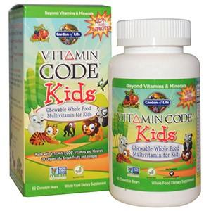 Garden of Life, Витаминный код, для детей