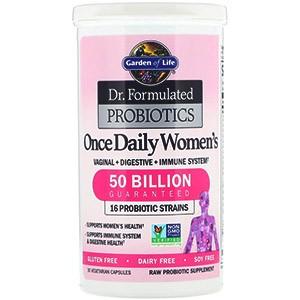Garden of Life, Разработанные доктором пробиотики, витаминный комплекс Once Daily Women's
