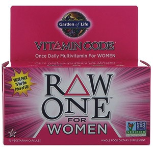 Garden of Life, Vitamin Code, Raw One, Once Daily Multi-Vitamin for Women