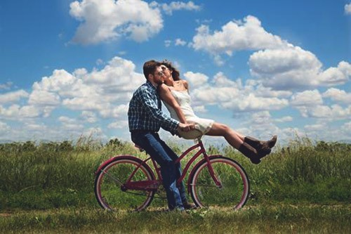 пара на велосипеде