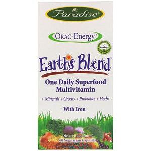 Paradise Herbs, Энергия ORAC, Earth's Blend, ежедневный сверхпитательный мультивитамин