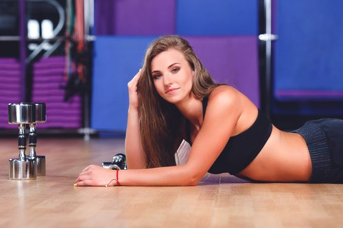 девушка на спорте