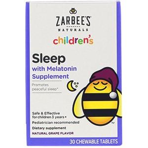 Zarbee's, Для детей, сон с добавкой мелатонина