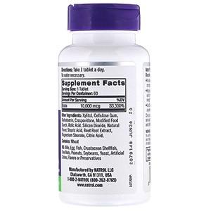 Natrol, Биотин, максимальная эффективность, клубника