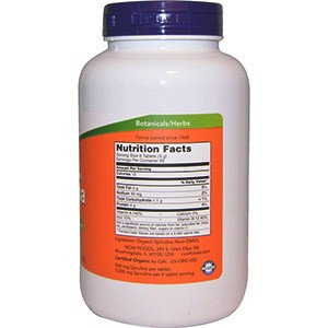 Now Foods, Сертифицированная органическая спирулина