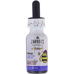 Детское средство для сна с ягодным вкусом в жидкой форме от компании Zarbee's