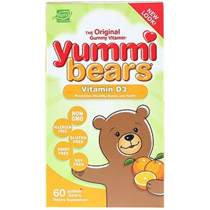 Hero Nutritional Products, Yummi Bears, витамин D3