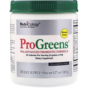 Nutricology, ProGreens с улучшенной пробиотической формулой