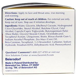 Eucerin, Крем для лица против морщин Q10 с биотином