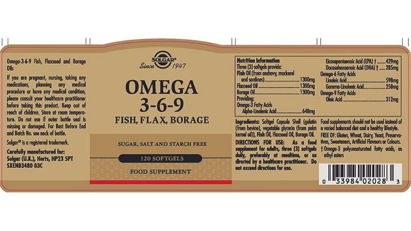 состав добавки Омега 3-6-9