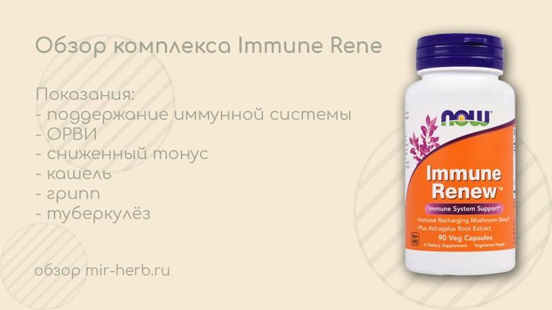 Обзор комплекса Immune Renew (имунное обновление) от компании Now Foods. Изучаем инструкцию и состав. Влияние добавки на иммунитет