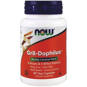 Подробное описание комплекса с пробиотиками Gr8-Dophilus (Gr8-Дофилус) от компании Now Foods: изучаем состав, инструкцию, показания к применению. Где можно купить дешевле всего?
