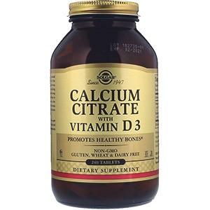 Solgar, Цитрат кальция с витамином D3