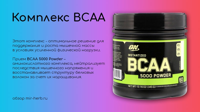 комплекс BCAA