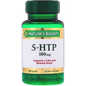 Nature's Bounty, 5-гидрокситриптофан, 100 мг, 60 капсул