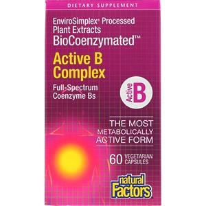 Natural Factors, BioCoenzymated, активный комплекс витаминовB, 60 капсул