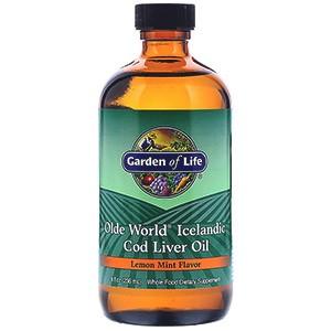Garden of Life, Olde World Icelandic Cod Liver Oil, со вкусом лимона и мяты, 8 жидких унций