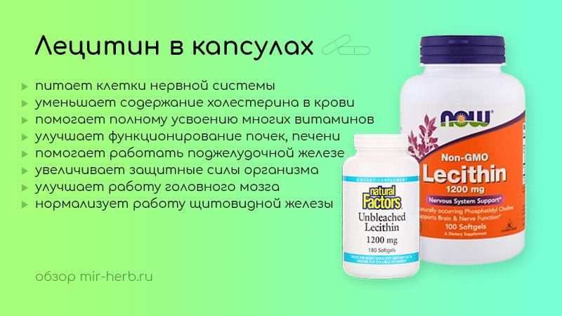 лецитин в капсулах