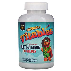 Vitables, Мультивитамины для детей, фруктовое ассорти, 180вегетарианских таблеток
