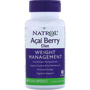 Natrol, Диетические ягоды асаи, суперпродукты асаи и зеленый чай, 60растительных капсул