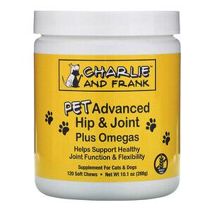 Charlie & Frank, Улучшенная формула для здоровья суставов животных с омега-кислотами, для котов и собак