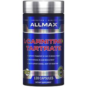 ALLMAX Nutrition, L-карнитин + тартрат, 120 капсул