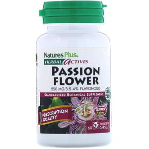 Nature's Plus, Растительная активность, пассифлора, 250 мг, 60 вегетарианских капсул