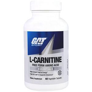 GAT, L-карнитин, 60 растительных капсул