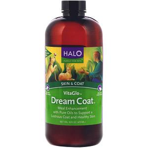 Halo, VitaGlo, шерсть мечты, кожа и шерсть, для собак и кошек