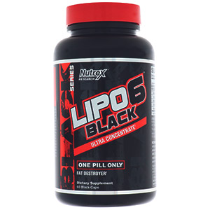 Nutrex Research, LIPO-6 Black, Ultra Concentrate, 60 Black-Caps