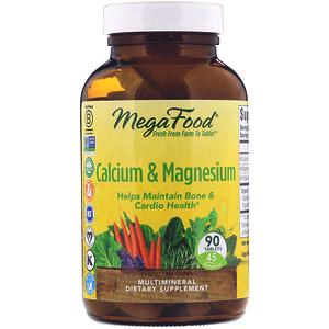 MegaFood, Кальций и магний, 90 таблеток