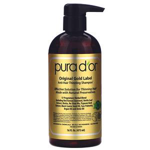 Pura D'or, Шампунь против выпадения волос на основе шалфея, 473мл