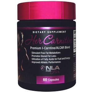 NLA for Her, Карнитин для нее, премиум смесь L-карнитин/ALCAR, 60 капсул