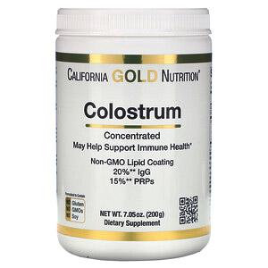 California Gold Nutrition, Концентрированное молозиво в порошке, 200 г