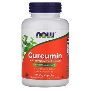 Now Foods, Куркумин, 120растительных капсул