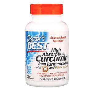Doctor's Best, Легкоусвояемый куркумин, 500 мг, 120 капсул