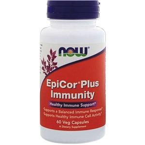 Now Foods, EpiCor Plus Immunity, 60 растительных капсул