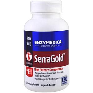 Enzymedica, SerraGold, высокоэффективная серрапептаза