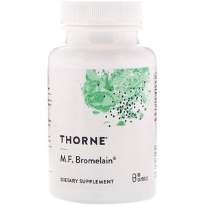 Thorne Research, Бромелайн M.F., 60 растительных капсул