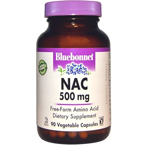 Bluebonnet Nutrition, NAC, 500 мг, 90 растительных капсул