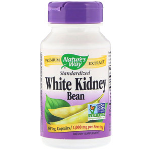 Nature's Way,Стандартизированная белая фасоль (White Kidney Bean Standardized), 60 капсул