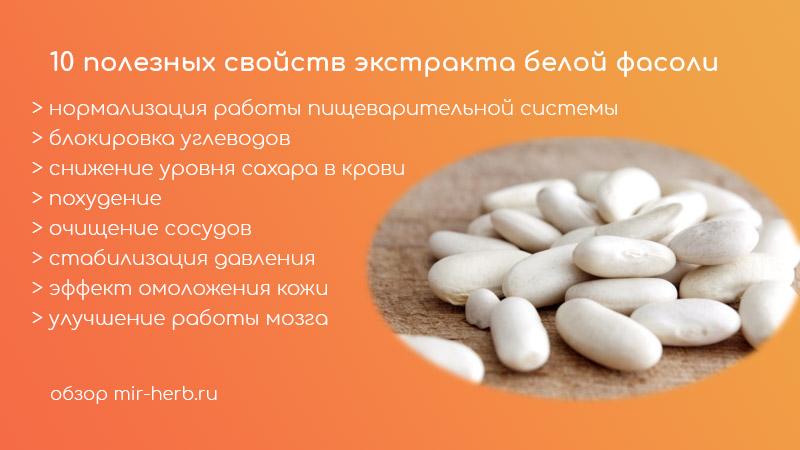 10 полезных свойств белой фасоли
