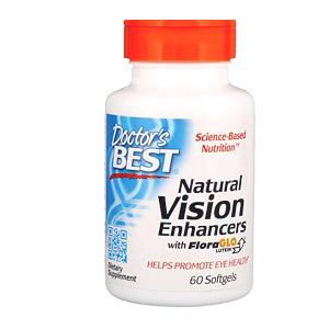 Doctor's Best, натуральные средства для улучшения зрения с лютеином FloraGlo, 60 капсул