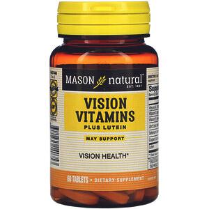 Mason Natural, Витамины для зрения с лютеином, 60таблеток